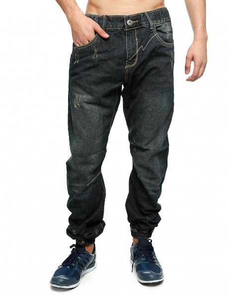 Royal Blue Denim Sweatpant 87012 Dark Blue