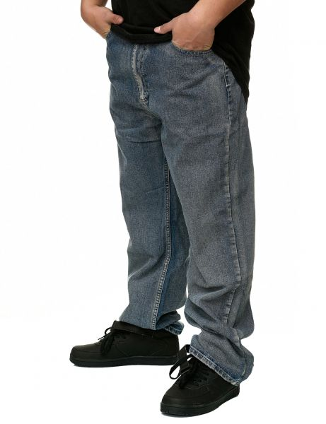 YLD Baggy Fit Jeans YLD308D Washed Grey