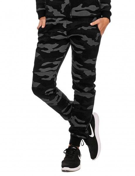 Violento Ladies Sweatpants 722 Camo Black Silver