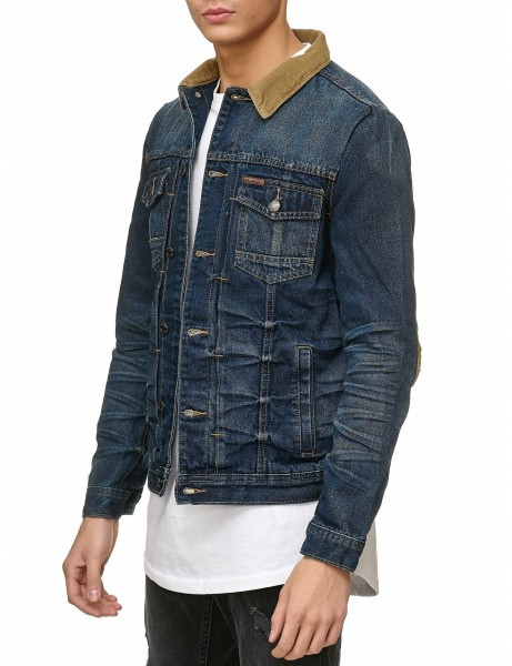 Soul Star MJ Miller Denim Jacket Blue Wash Blue