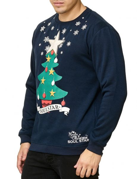 Soul Star X-MAS Tree MSW-Leah LED Crewneck Navy