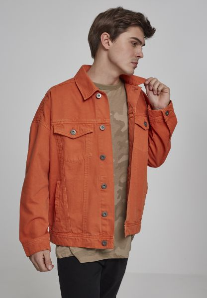 Urban Classics Oversize Garment Dye Jacket TB2091-01150 Orange