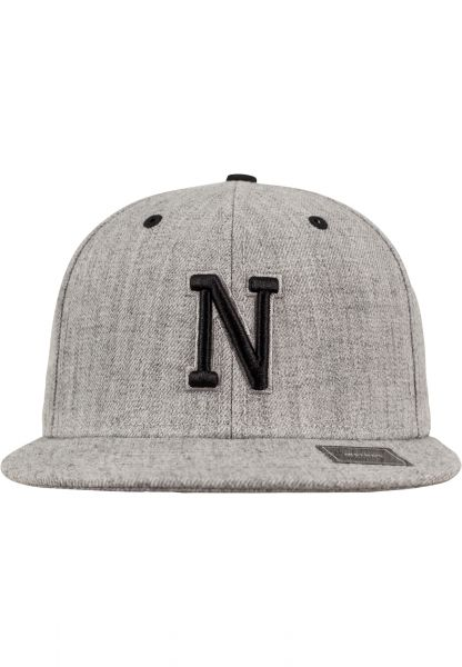 MSTRDS Letter Snapback Kids Youth 10532-00349-htgrey-Y Grey