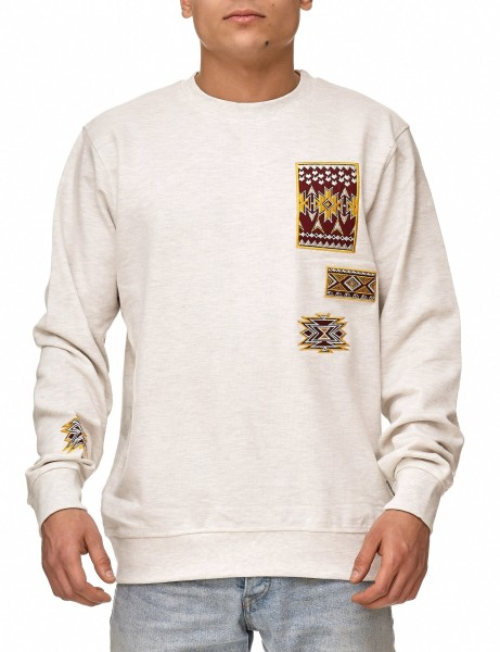 Soul Star MSW-Emlett Sweater Oatmeal Mel Light Grey