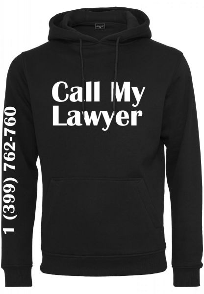 Mister Tee Call My Lawyer Hoody MT991-00007 Black