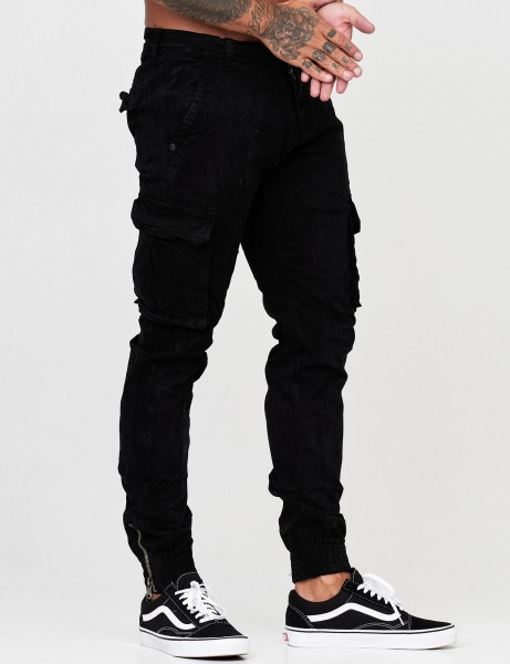 NO Name Mens Cargo Pant AD03-1 Black