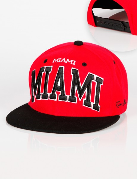 RB Miami Snapback Red