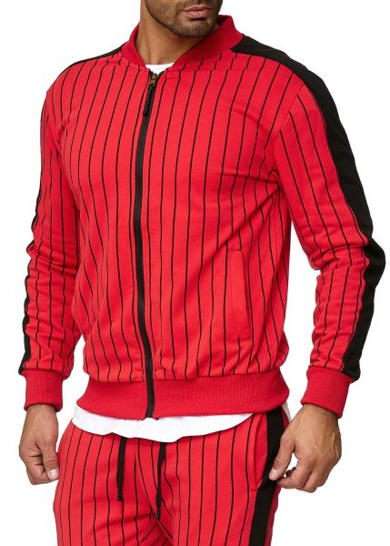 Redox Mens Track Jacket A11-14C Red Red