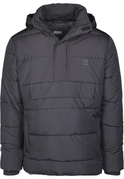 Urban Classics Pull Over Puffer Jacket TB2424-00007 Black