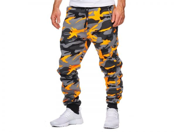 Redox Mens Sweatpants 794C Camo Orange