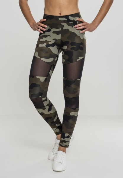Urban Ladies Camo Tech Mesh Leggings WoodCamoBlack TB1939-00459 Camo