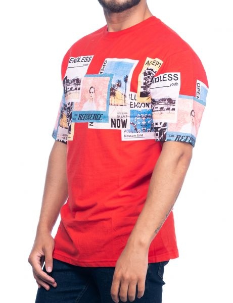 Catch mens Oversize T-Shirt Y-216 Red