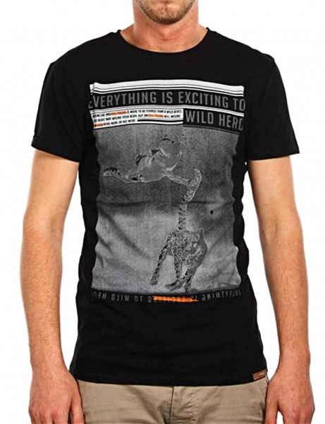 Wild Hero T-Shirt Herren Oberteil T-Shirt 13-2022_Black Hip hop Tee