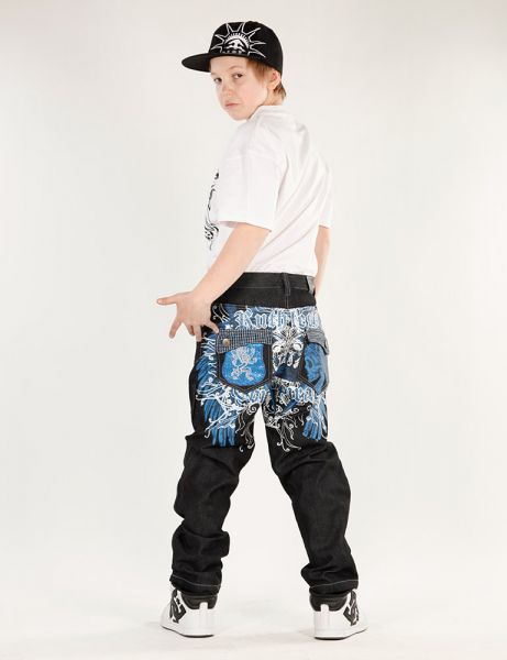Kids AJ-6300 Jeans Dark Black