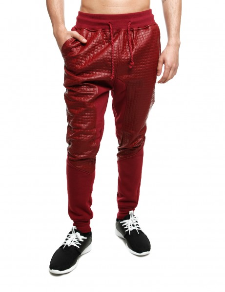 Imperious Quilted Sweatpant FP566 Burgundy Red