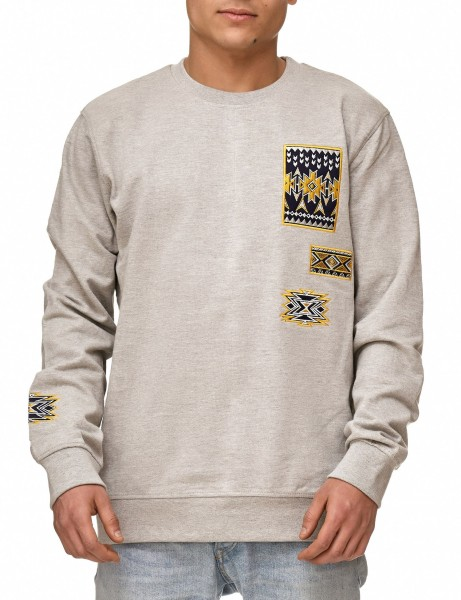 Soul Star MSW-Emlett Sweater Grey Melange Grey