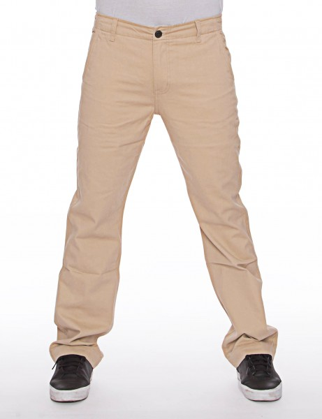 Royal Blue Basic Slim Straight Fit Chino Pant Beige