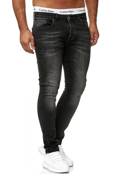 Redox Mens Jeans 600JS_604 Dirty Black Used