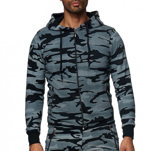 Oxid Mens Zip Hoody 8130H Black/Camo