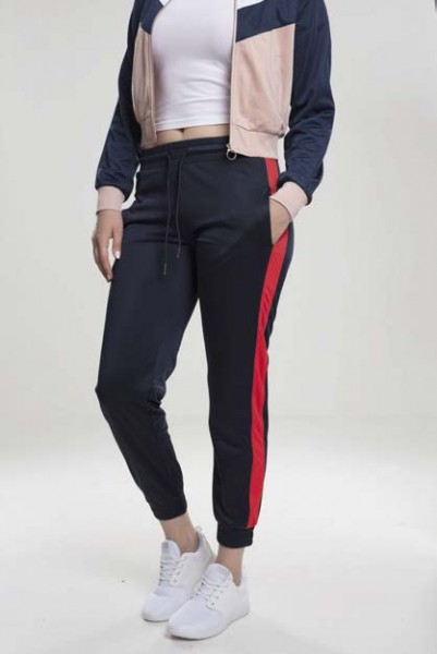 Ladies Cuff Track Pants navy/fire red TB1857-01227 Navy
