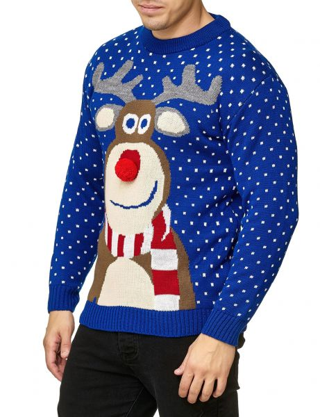 Festive Christmas Rudolph The Red Nosed Sweater Royal