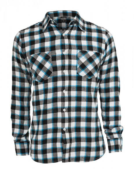 Tricolor Checked Light Flanell Shirt TB411 blkwhttur Black