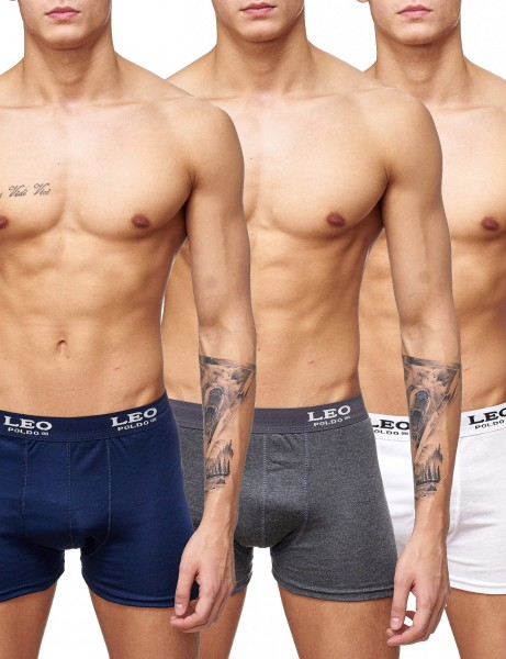 LPB Boxers 3 Pack 218663 Navy D.Grey White