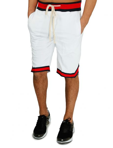 Imperious Color Block Track Shorts SP803 White