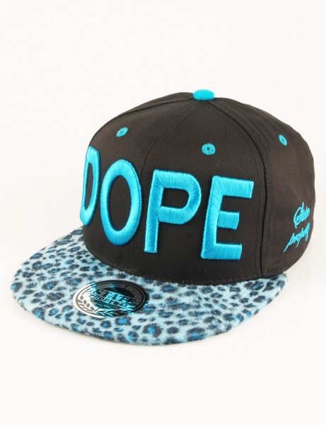 State Property Herren Caps Dope Leopard Caps_Black/Turqouise Kappe Mütze Cappy