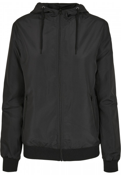 WOMENS Basic Ladies Recycled Windrunner black/black BY147-20825