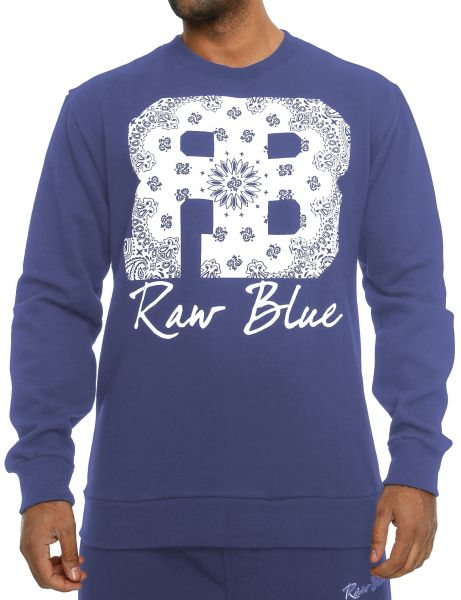 Raw Blue Crewneck RB-CN-003 Navy