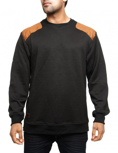 Imperious Quilted Sweatshirt CS542 Black