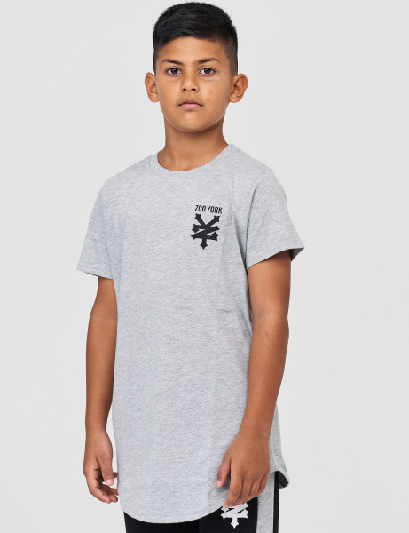 Zoo York ZSK90511 Kids Pipe T-shirt Athletic Grey Marl