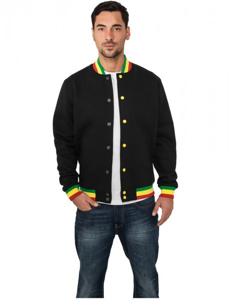 Contrast College Sweatjacket TB133 blk/rasta Black