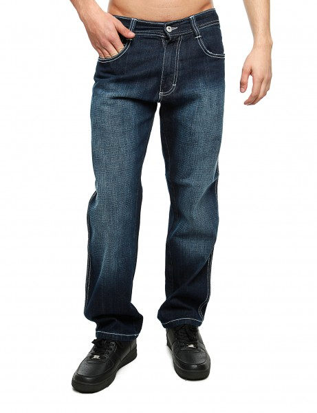 Southpole Relaxed Fit Denim Dk Sand Blue