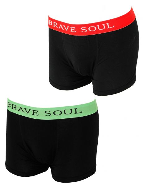 Brave Soul MBX-18Planet 2 Pack Boxershorts Lime Green Red
