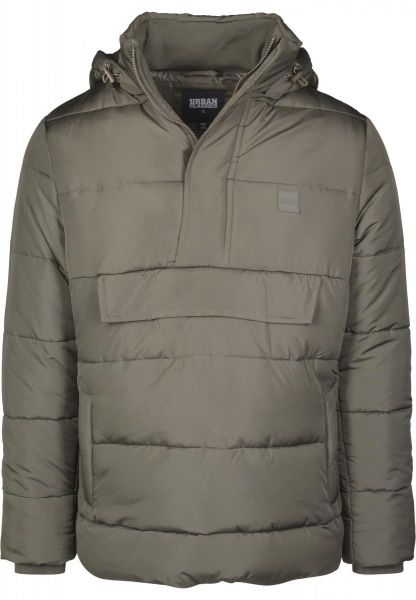 Urban Classics Pull Over Puffer Jacket TB2424-00551 OLIVE
