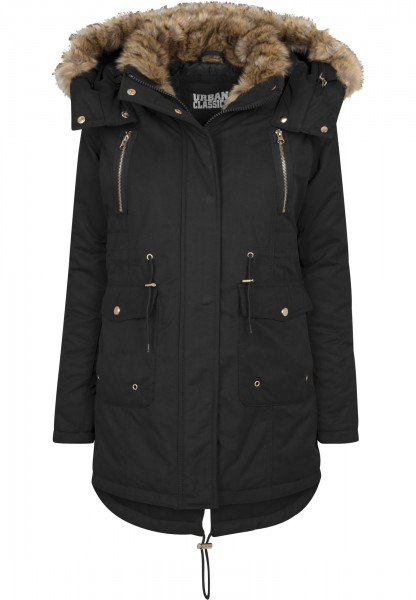 Ladies Imitation Fur Parka black TB1762-00007 Black