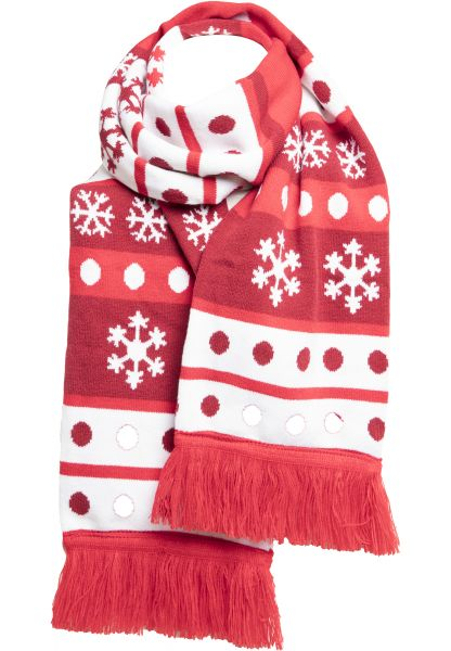 Urban Classics Christmas Scarf Dots TB2443-01546 Red