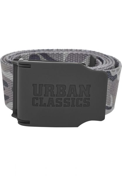 Urban Classics Woven Belt Rubbered Touch UC TB2171-00866 Grey
