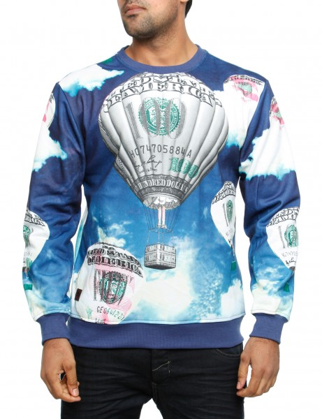 Imperious Money Bloom Sweatshirt CS539 Blue