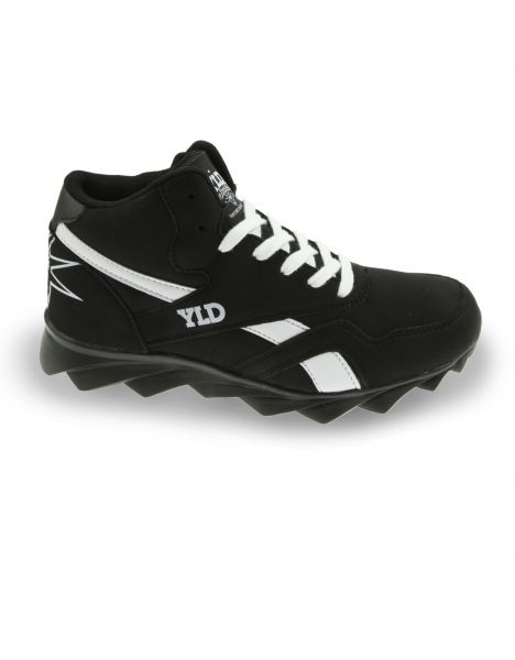YLD YD-200 Big Liberty High Top Sneaker Black White