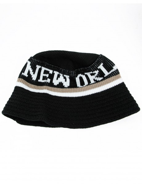 Cityhunter New Orleans Knitted Bucket Hat BD1650 Black