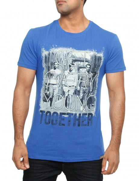Young together T-Shirt Royal Herren Oberteil T-Shirt 13-2023_Royal Hip hop Tee