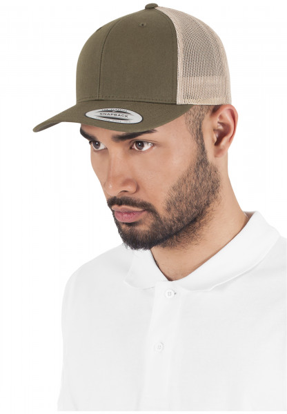 MENS Basic Retro Trucker 2-Tone mossgreen/khaki 6606T-20656