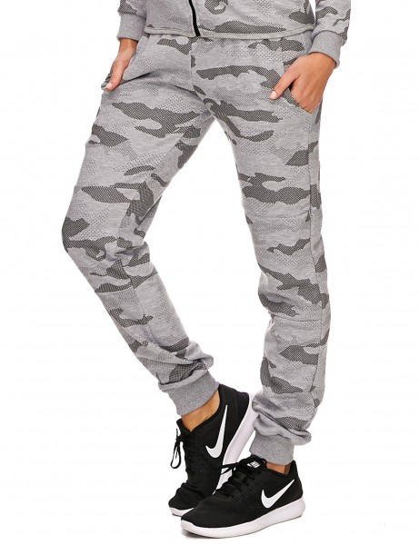 Violento Ladies Sweatpants 722 Camo Grey