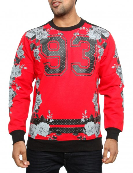 Imperious 93 No. & Rose Sweatshirt CS82 Red