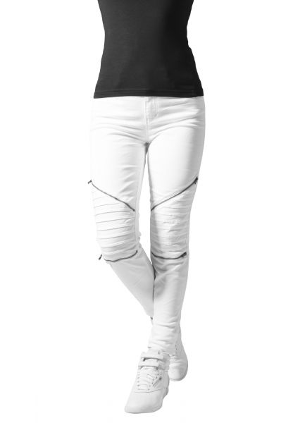 Ladies Stretch Biker Pants TB1215 White