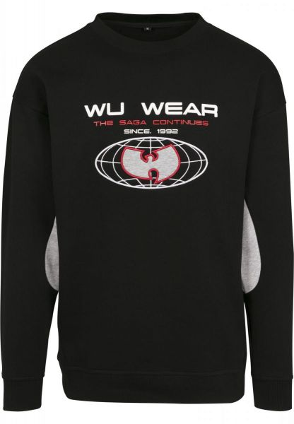 WU Wear Globe Crewneck WU034-00658 Black