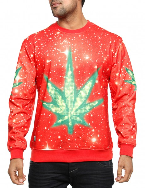 Imperious Marijuana Galaxy Sweatshirt CS563 Red